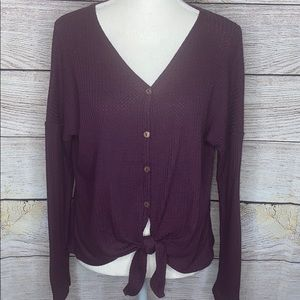 The Impeccable Pig Purple Waffle Top